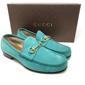 GUCCI 1953 Roos Men's Teal Aqua Lux Dress Loafer